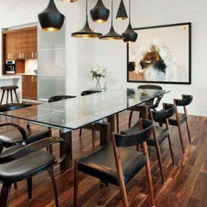 Table De Cuisine Rectangulaire En Verre