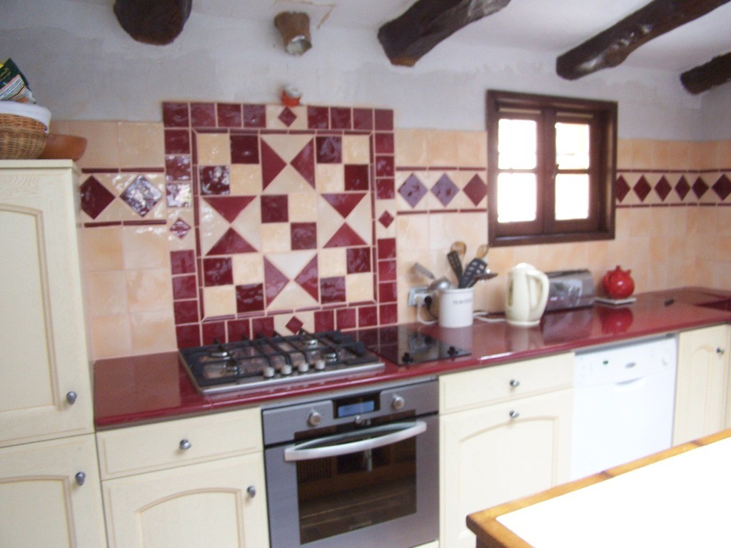 Carrelage cuisine rouge blanc cuisine id es de for Carrelage cuisine blanc