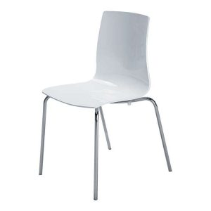 Chaise de cuisine blanc chaise id es de d coration de for Chaise blanche conforama