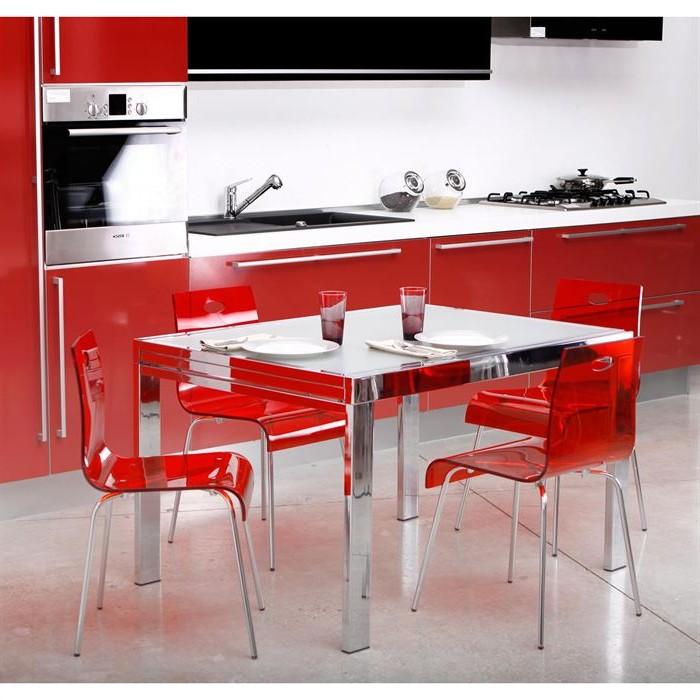 Chaise De Cuisine Couleur Rouge