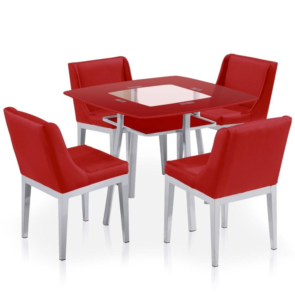 Chaise De Cuisine Cuir Rouge