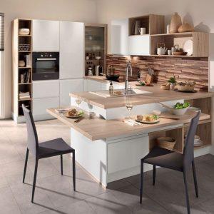 Cuisine ilot central table cuisine id es de d coration for Cuisine ilot central et table