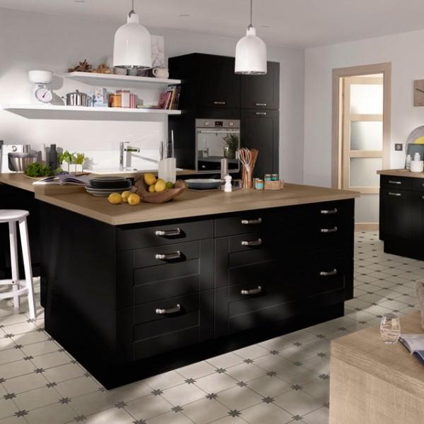 Cuisine Equipee Ikea Noire