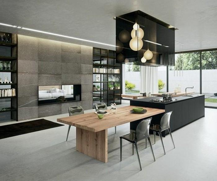 Cuisine Moderne Avec Grand Ilot Central