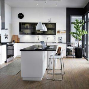 Cuisine Moderne Blanche Avec Ilot Central