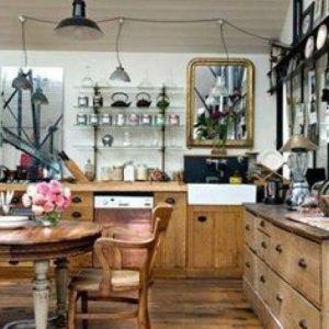 Table de cuisine style brocante cuisine id es de for Meuble de cuisine style brocante