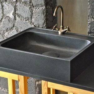 Evier De Cuisine Granit Noir Lagos Shadow