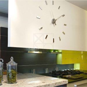 Horloge Cuisine Design Inox