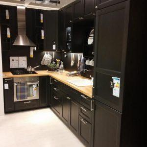 Ikea Meuble Cuisine Laque Noir