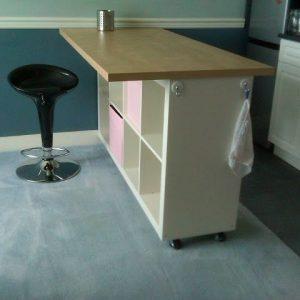 Great meuble bar rangement cuisine with fly meuble bar for Snack table ikea