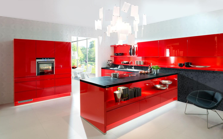Meuble Cuisine Laqu Rouge Cuisine Id Es De D Coration De  # Meuble Rouge Laque