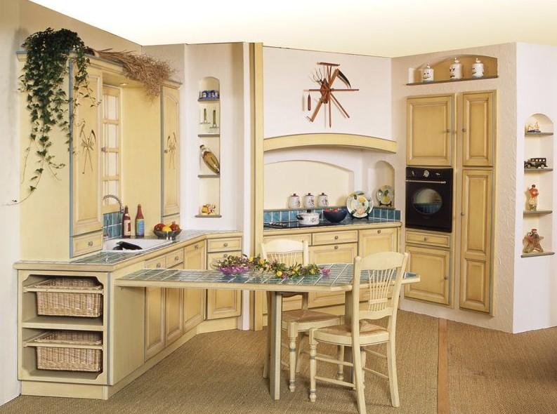 modele cuisine rustique provencale cuisine id es de. Black Bedroom Furniture Sets. Home Design Ideas