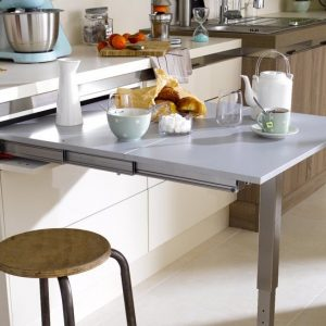 Table escamotable pour petite cuisine cuisine id es de for Cuisine table escamotable
