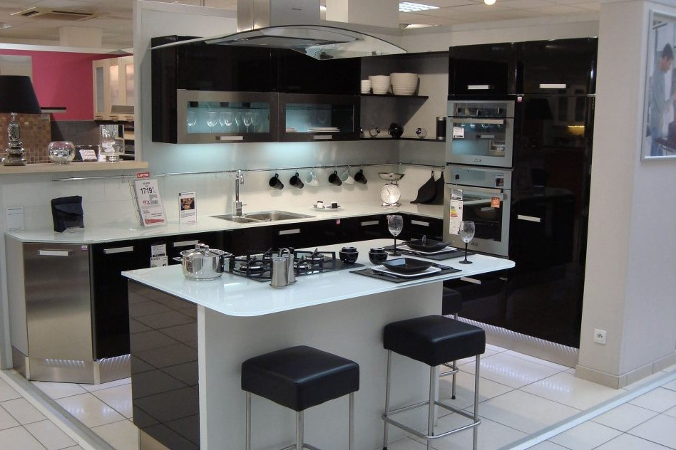 awesome plan cuisine moderne avec ilot central with plan