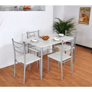 Table De Cuisine Grise Rectangulaire