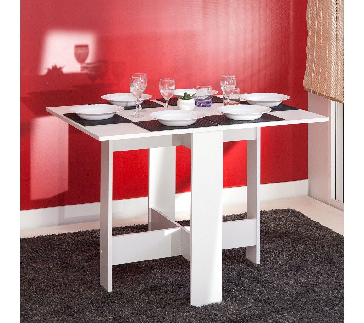 Table De Cuisine Pliable Leane Blanc
