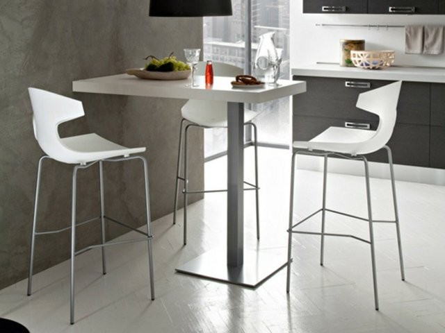 Table cuisine avec tabouret table haute de cuisine avec for Cuisine formica neuve