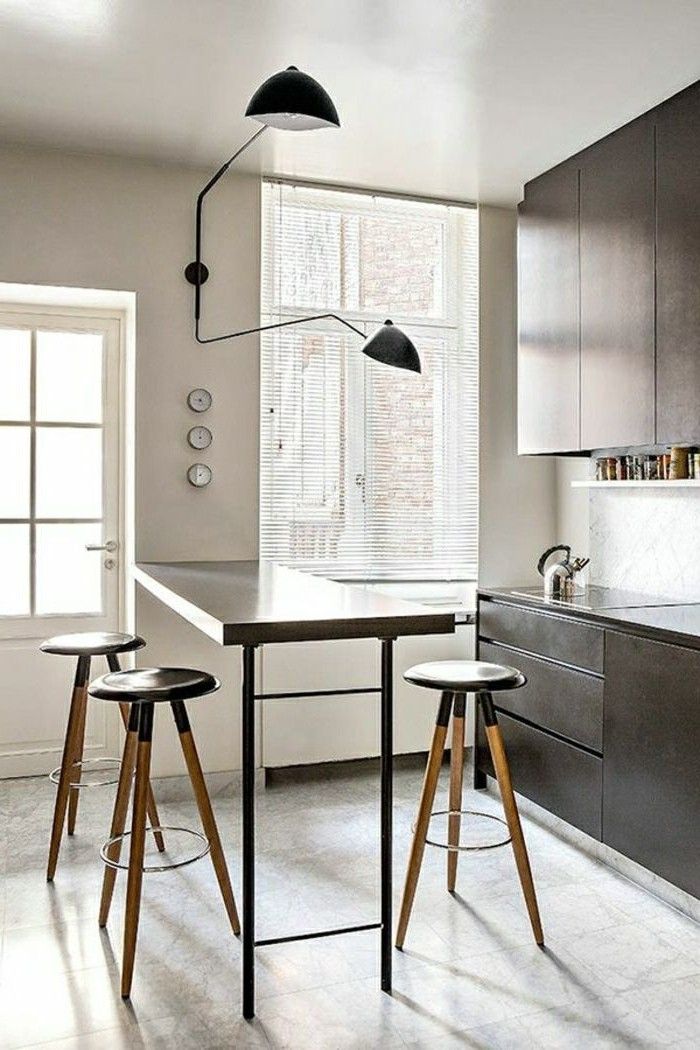 Table haute de cuisine moderne cuisine id es de for Table cuisine moderne
