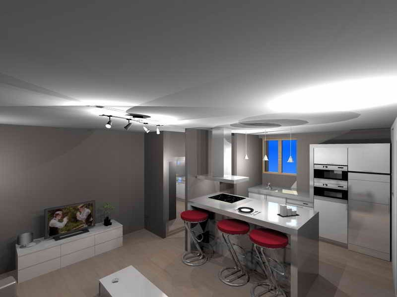 Amenagement cuisine 20m2 latest interesting dcoration for Cuisine ouverte hlm