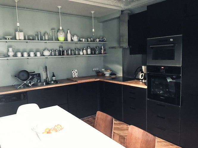 Meuble Cuisine Noir Laquac Supacrieur Meuble Haut D Angle Cuisine