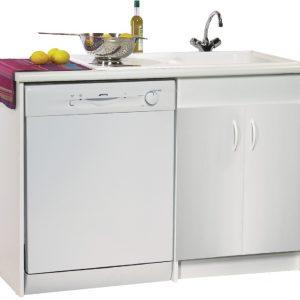 Meuble sous evier cuisine avec emplacement lave vaisselle for Meuble cuisine lave vaisselle