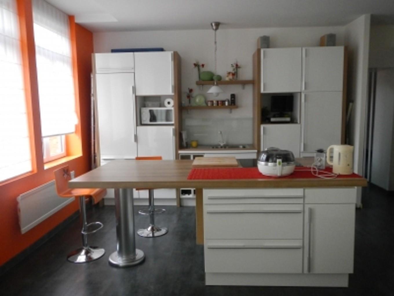 Petite cuisine design avec ilot central cuisine id es - Decoration petite cuisine ...