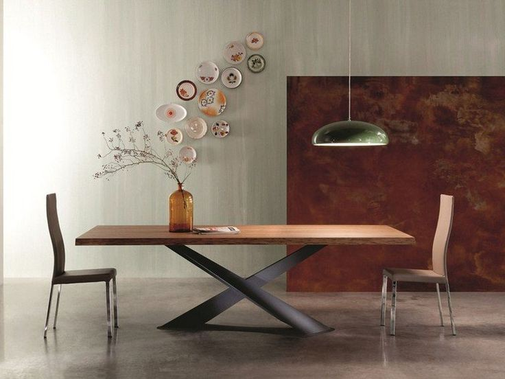Table ovale pied central design table a manger pied for Esstisch italienisches design
