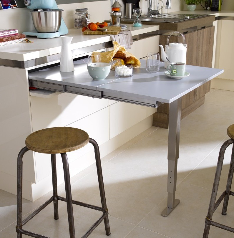 Table escamotable pour cuisine cuisine id es de for Table qui se leve