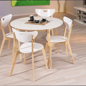 Table Et Chaises De Cuisine En Bois Massif