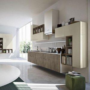 Buffet De Cuisine Moderne 6 Portes Vert Italian