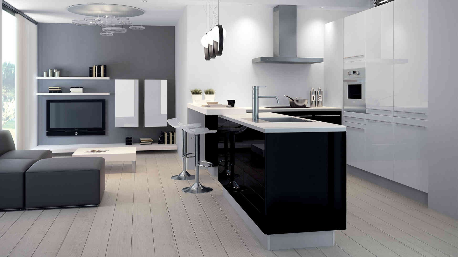 carrelage pour cuisine noire et blanche cuisine id es de d coration de maison 89l79wwb2g. Black Bedroom Furniture Sets. Home Design Ideas