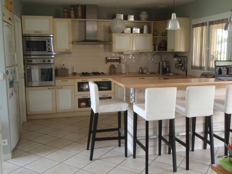 chaise haute ilot cuisine cuisine id es de d coration. Black Bedroom Furniture Sets. Home Design Ideas