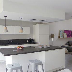 Idees deco cuisine ouverte sur salon cuisine id es de for Peinture salon cuisine ouverte