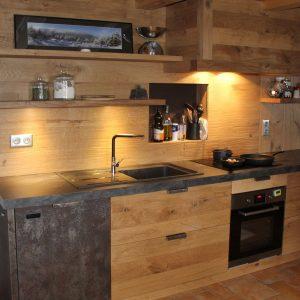 Facade meuble cuisine bois brut cuisine id es de for Facade cuisine en chene massif