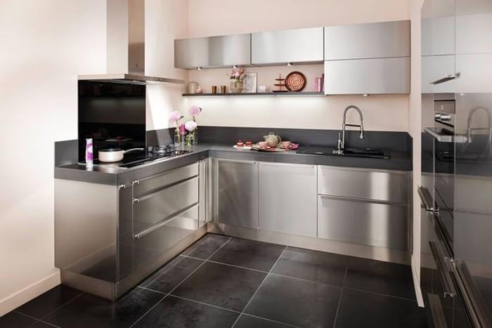 Meuble cuisine inox roulettes cuisine id es de d coration de maison 56lgv4wn30 for Poubelle cuisine inox roulettes