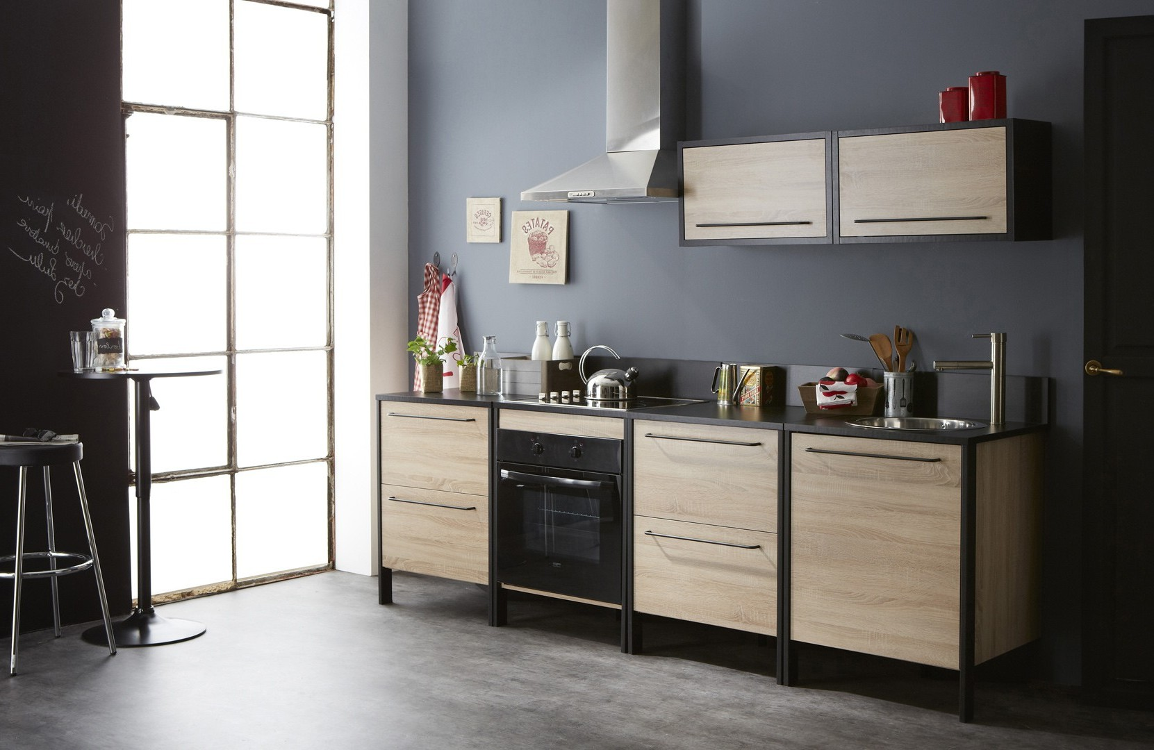 meubles de cuisine en pin brut cuisine id es de. Black Bedroom Furniture Sets. Home Design Ideas