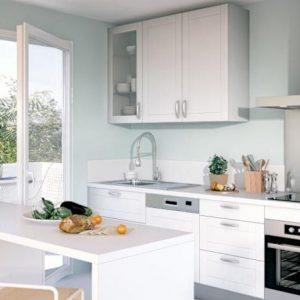 Modele de cuisine equipee blanche cuisine id es de - Lapeyre robinetterie cuisine ...
