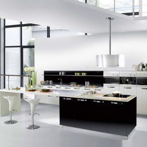 Carrelage pour cuisine noire et blanche cuisine id es for Cuisine blanche et noire