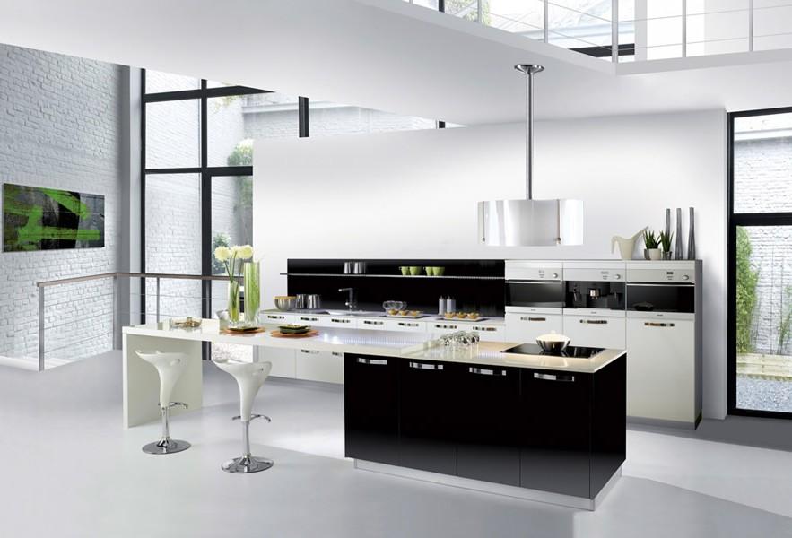 Mod le cuisine blanche et noire cuisine id es de for Cuisine blanche et noire