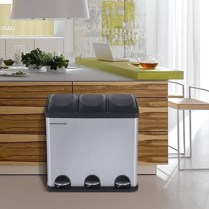 Poubelle De Cuisine Inox Ouverture Automatique