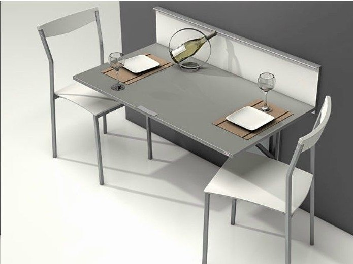 table fixe au mur pliante cool awesome table murale rabattable u design moderne et conomie. Black Bedroom Furniture Sets. Home Design Ideas