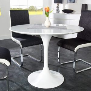 Table De Cuisine Ovale Pied Central
