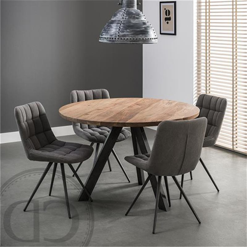 table de cuisine ronde en bois massif cuisine id es de. Black Bedroom Furniture Sets. Home Design Ideas