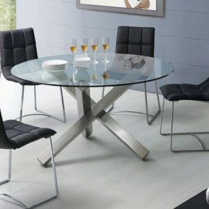 Table De Cuisine Ronde En Verre Design
