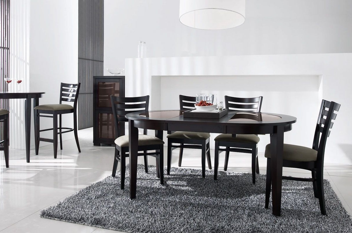 table de cuisine ronde en verre montreal cuisine id es. Black Bedroom Furniture Sets. Home Design Ideas