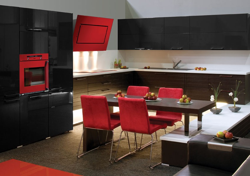 cuisine quip e design rouge cuisine id es de d coration de maison 89l7x1rd2g. Black Bedroom Furniture Sets. Home Design Ideas