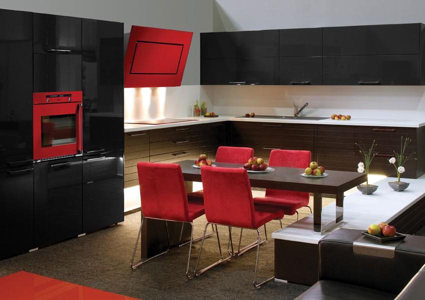 Cuisine équipée Design Rouge