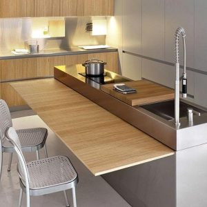 Meuble cuisine avec table escamotable cuisine id es de for Meuble de cuisine avec table escamotable
