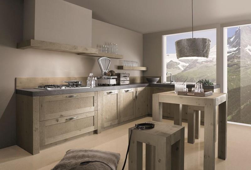 cuisine en bois massif contemporaine cuisine id es de. Black Bedroom Furniture Sets. Home Design Ideas