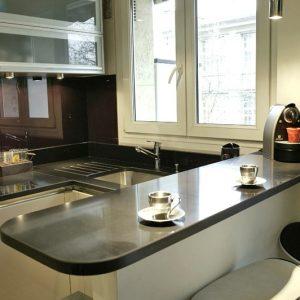 cuisine en quartz cuisine id es de d coration de On cuisine quartz noir